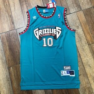 NWT Mike Bibby Vancouver Grizzlies Adidas Jersey